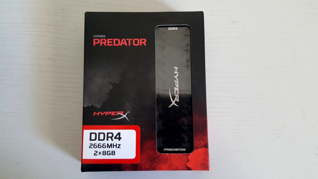 Kingston Hyperx Predator DDR4 2666 MHz 2x8 Go
