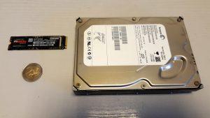 Samsung 970 EVO+ vs Seagate HDD