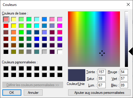 Mozilla Thunderbird version 78.11 couleurs dossiers